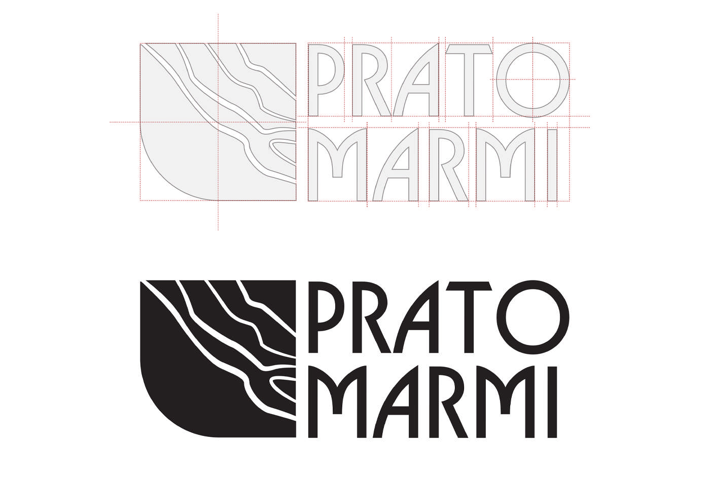 Branding for Pratomormi, Black Logo