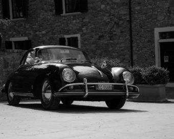 Black and White Photo Shoot of a Retro Volkswagen Beetle