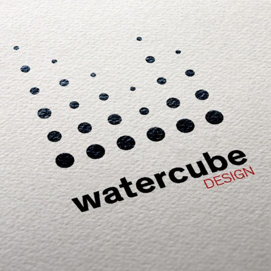 Watercube design logo