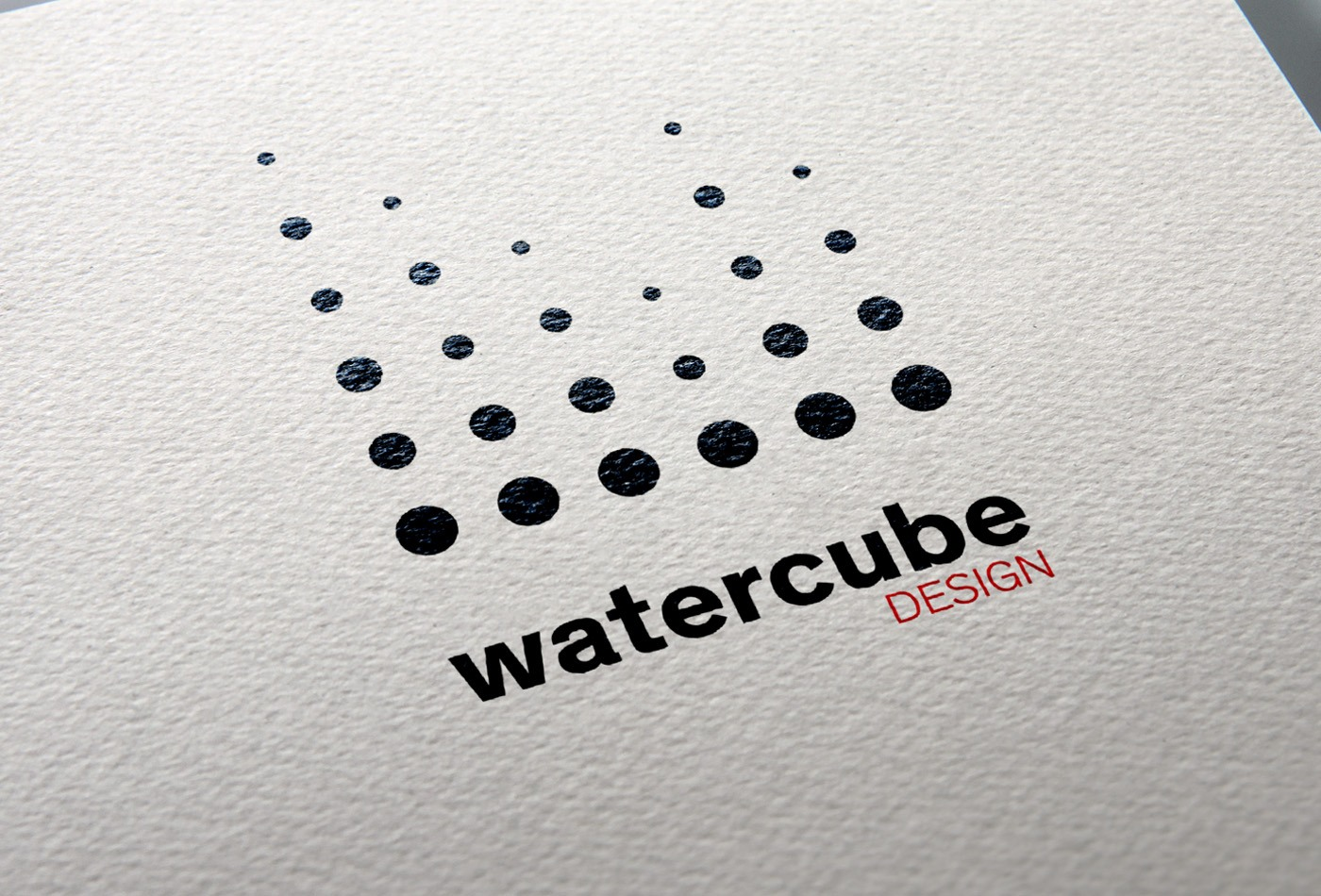 Watercube design logo